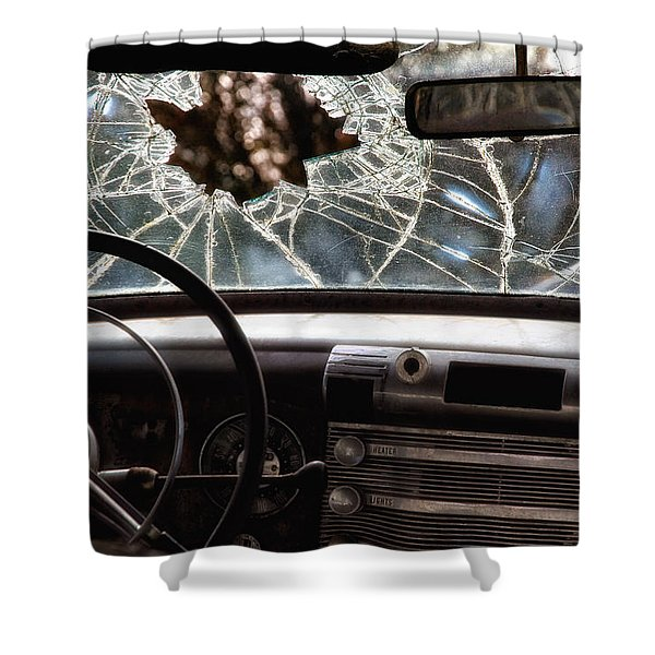 The Windshield  Shower Curtain