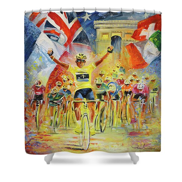 The Winner Of The Tour De France Shower Curtain