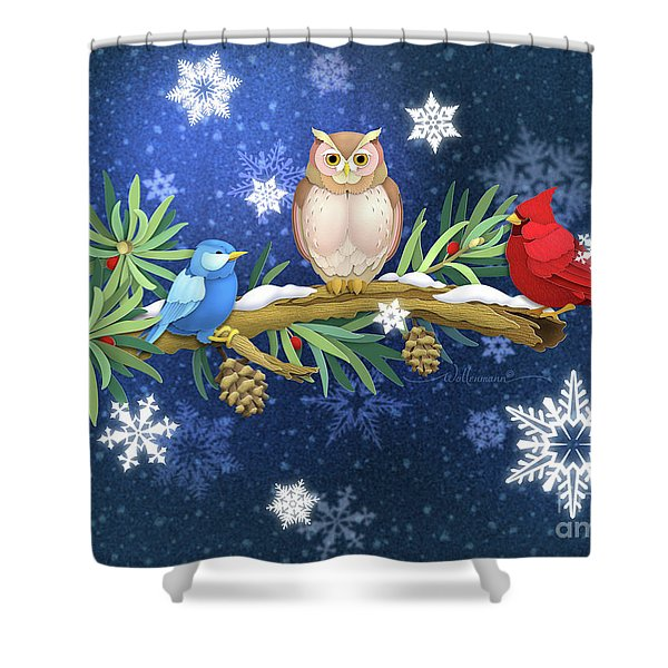 The Winter Watch Shower Curtain