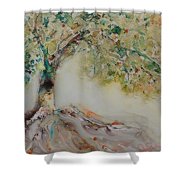 The Wisdom Tree Shower Curtain