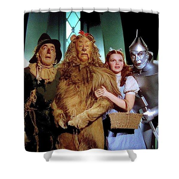 The Wizard Of Oz  Quartet Eric Carpenter Publicity Kodachrome 1939 Shower Curtain