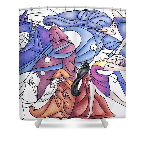 The Wizards Daughter Shower Curtain