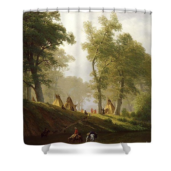 The Wolf River - Kansas Shower Curtain