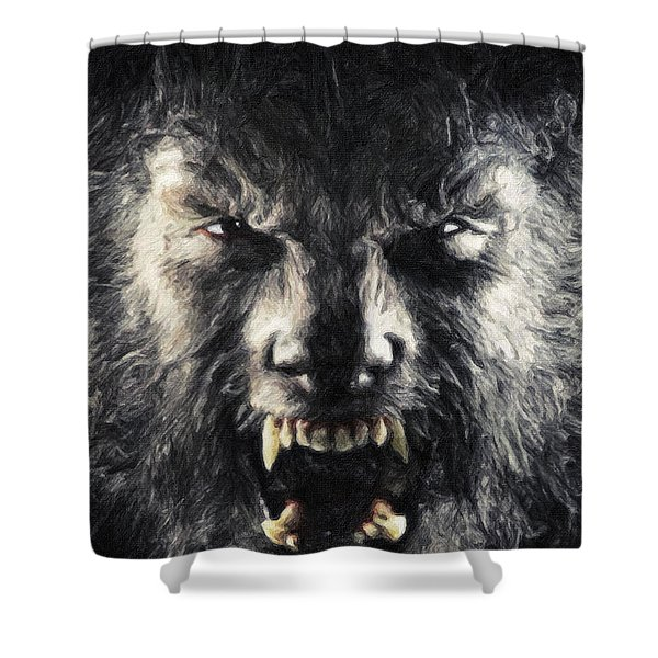 The Wolfman Shower Curtain