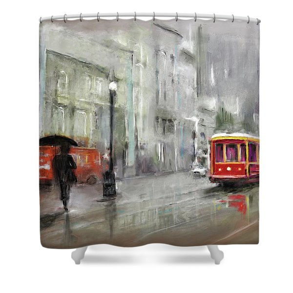The Woman In The Rain Shower Curtain