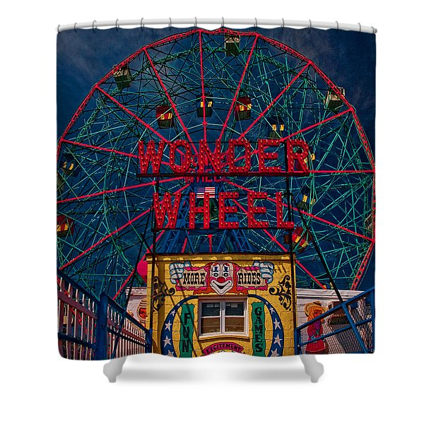 The Wonder Wheel At Luna Park Shower Curtain