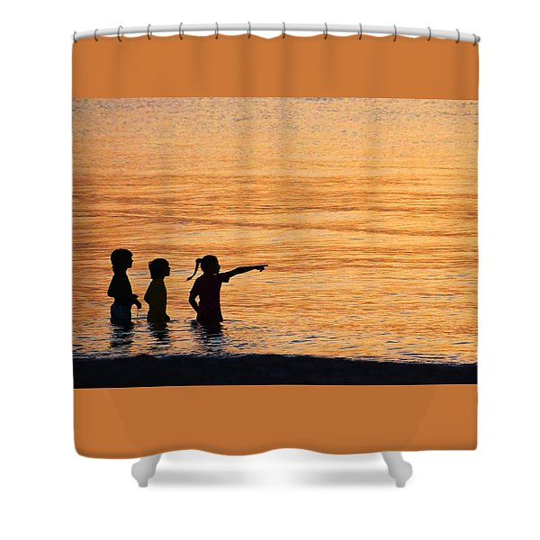 The Wonders Of Children Shower Curtain