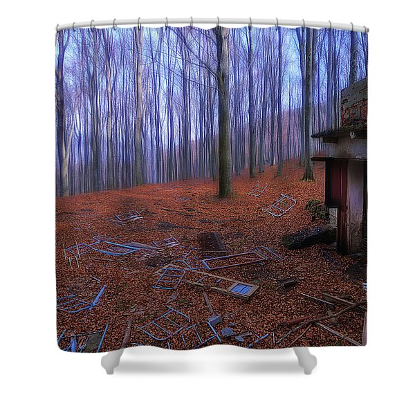 The Wood A La Magritte - Il Bosco A La Magritte Shower Curtain
