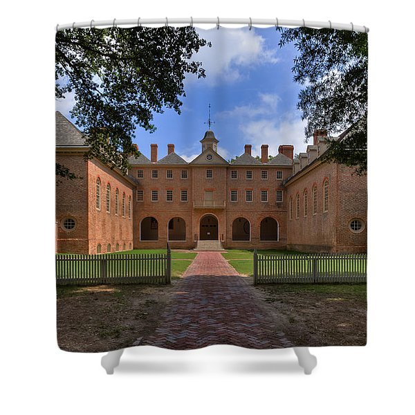 The Wren Building At William And Mary Shower Curtain
