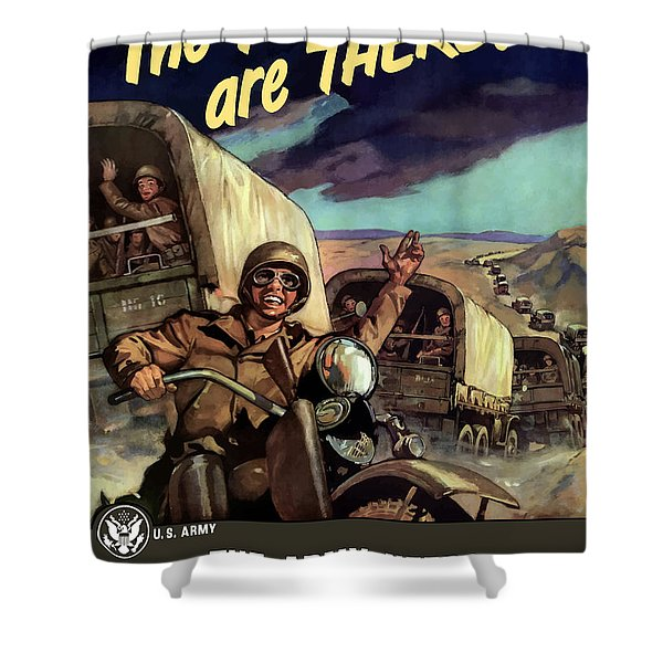 The Yanks Are There -- Ww2 Shower Curtain