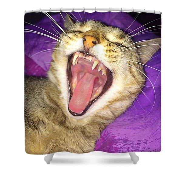 The Yawn Shower Curtain