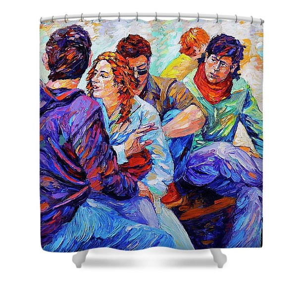 The Young And Bold  Shower Curtain