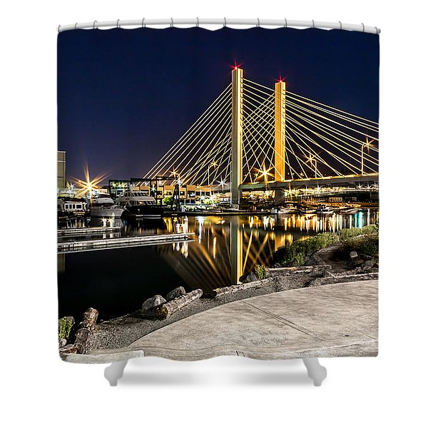 Thea's Landing And The 509 Bridge Shower Curtain