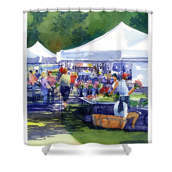 Theinsville Farmers Market Shower Curtain
