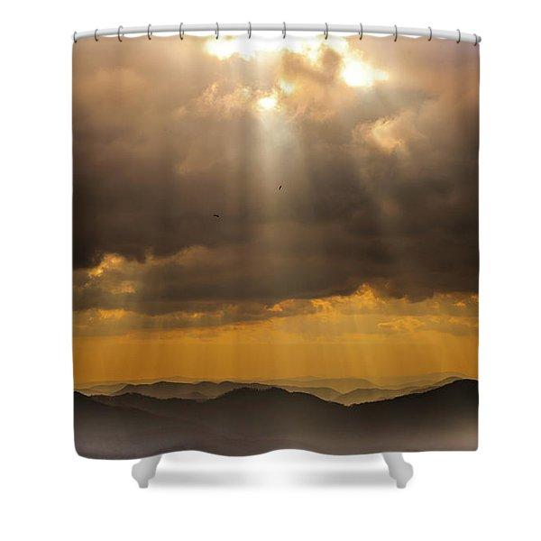 Then Sings My Soul Shower Curtain