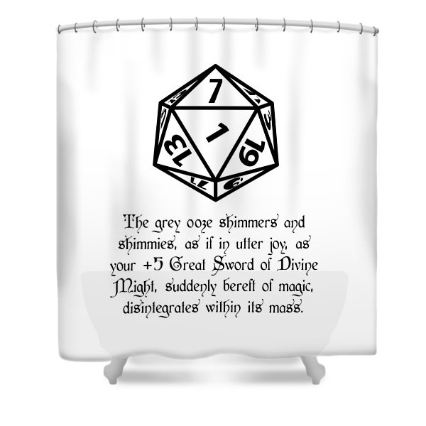 There Goes That Sword Shower Curtain