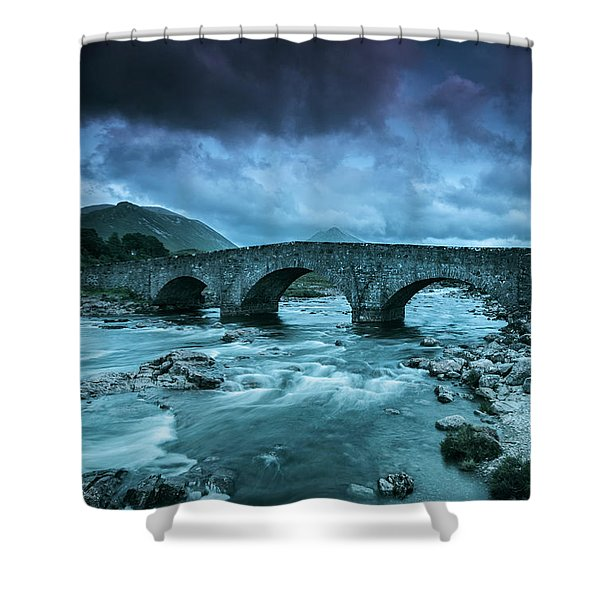 There Will Be Bridges Shower Curtain