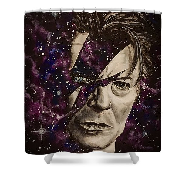 There's A Starman Waiting In The Sky Shower Curtain