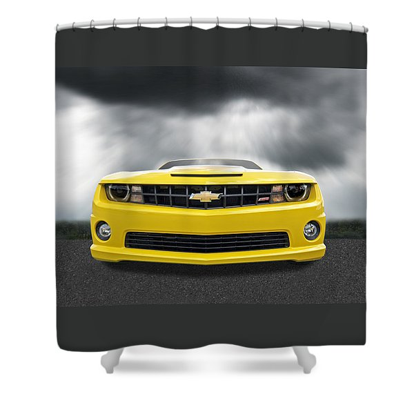 There's A Storm Coming - Camaro Ss Shower Curtain