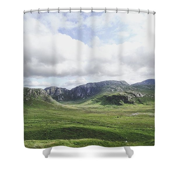 There's No Green Like Ireland's Green Shower Curtain