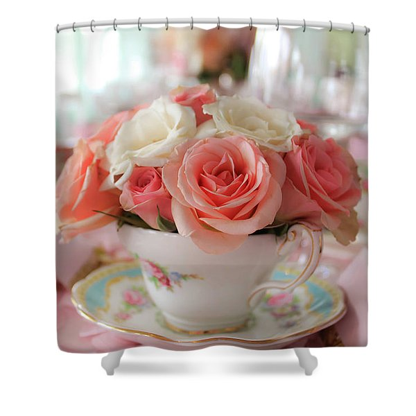 Teacup Roses Shower Curtain