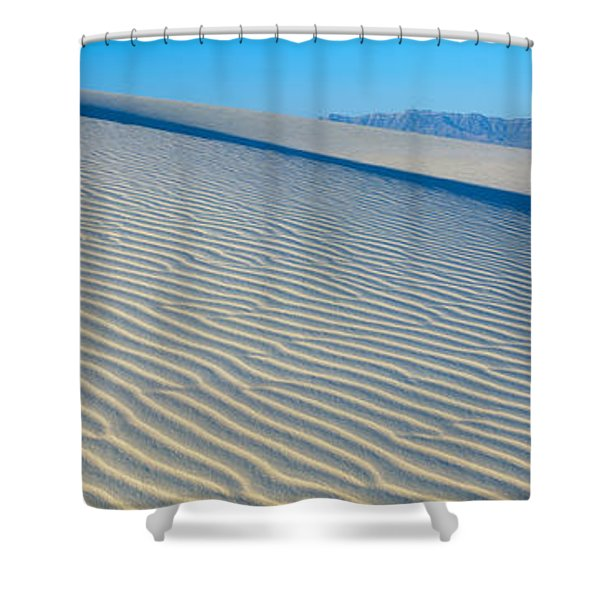 These Are Sand Dunes In The Morning Shower Curtain