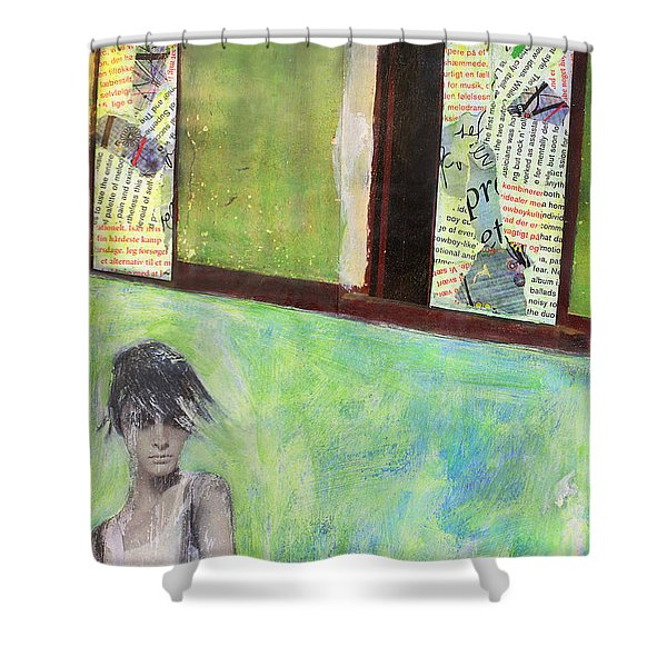 They Say Shower Curtain