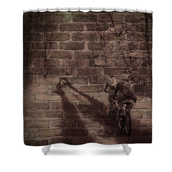 Hitting The Wall Shower Curtain