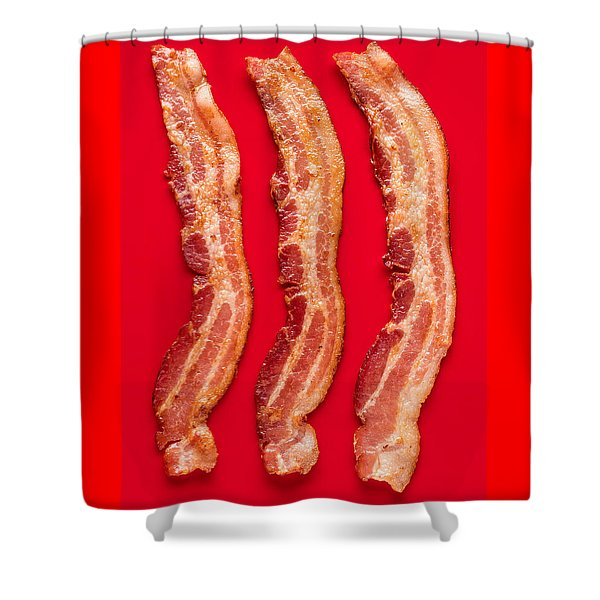 Thick Cut Bacon Served Up Shower Curtain