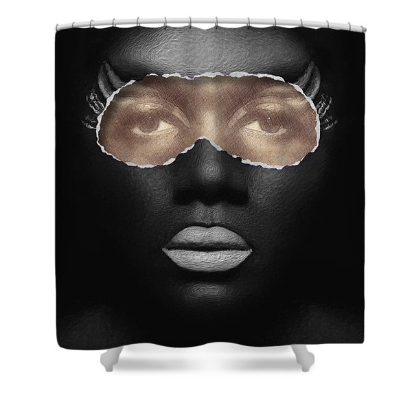 Shower Curtain featuring the digital art Thin Skinned by ISAW Company