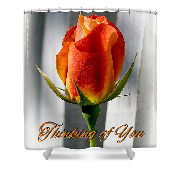 Thinking Of You, Rose Shower Curtain