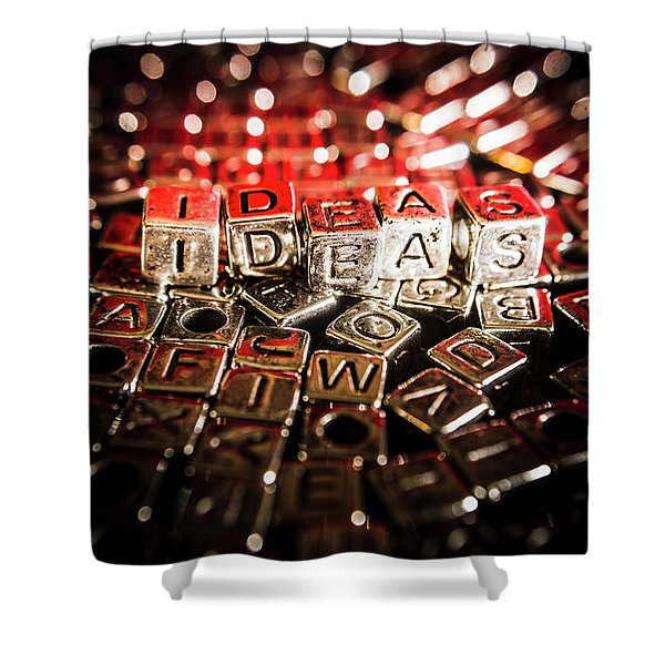 Thinking Outside The Boxes Shower Curtain
