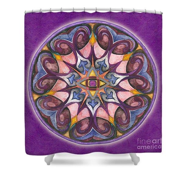 Third Eye Mandala Shower Curtain