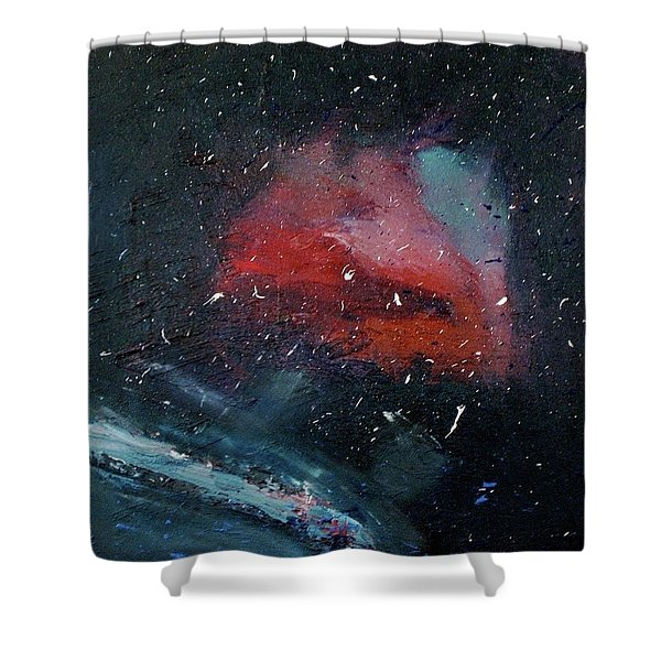 Shower Curtain featuring the painting Third Eye by Michael Lucarelli