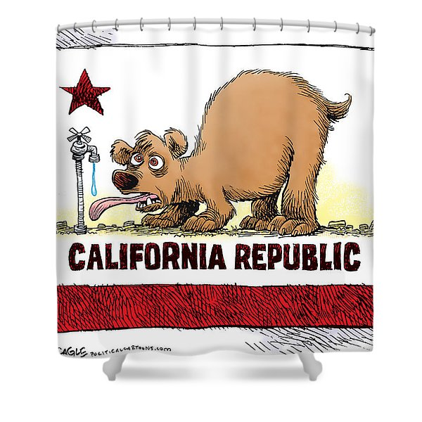 Thirsty California Flag Shower Curtain