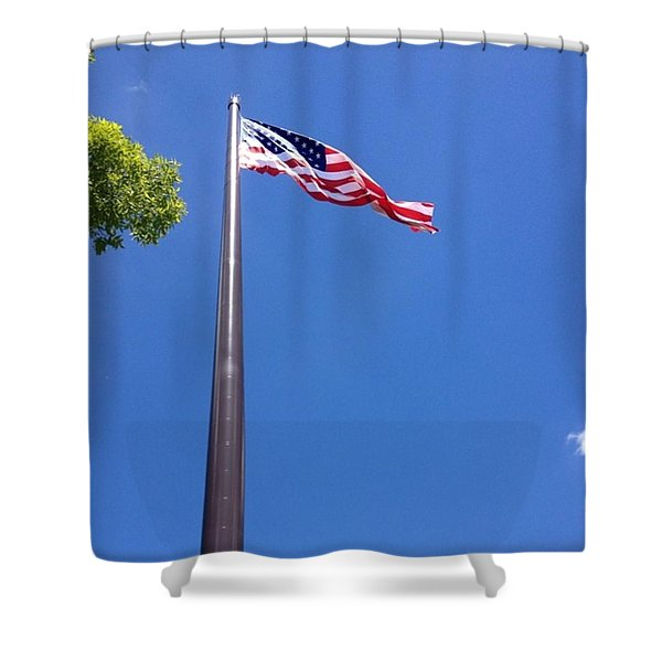 America's Tallest Symbol Of Freedom Shower Curtain