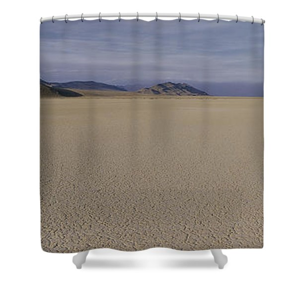 This Is A Dry Lake Pattern Shower Curtain
