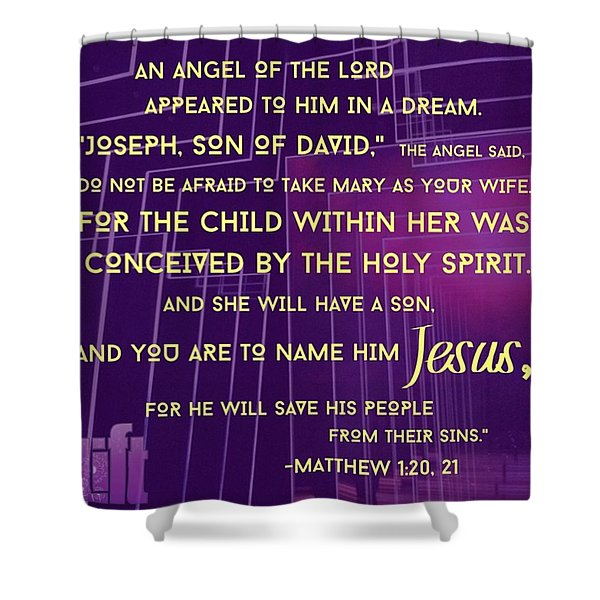 This Is How Jesus The Messiah Was Born Shower Curtain