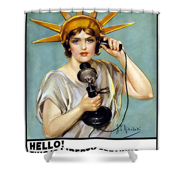 This Is Liberty Speaking - Ww1 Shower Curtain