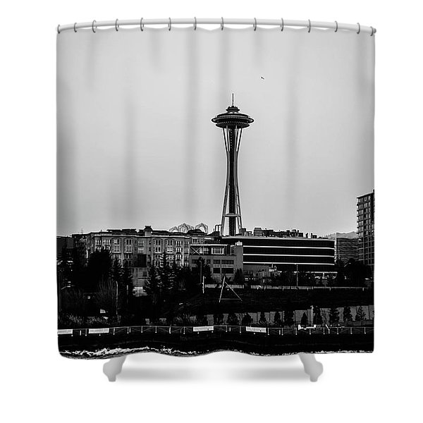 This Is Seattle Black And White Shower Curtain