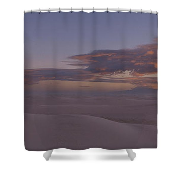 This Is Sunset Over White Sands Shower Curtain