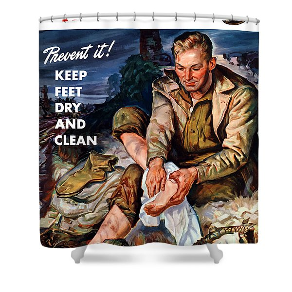 This Is Trench Foot - Prevent It Shower Curtain