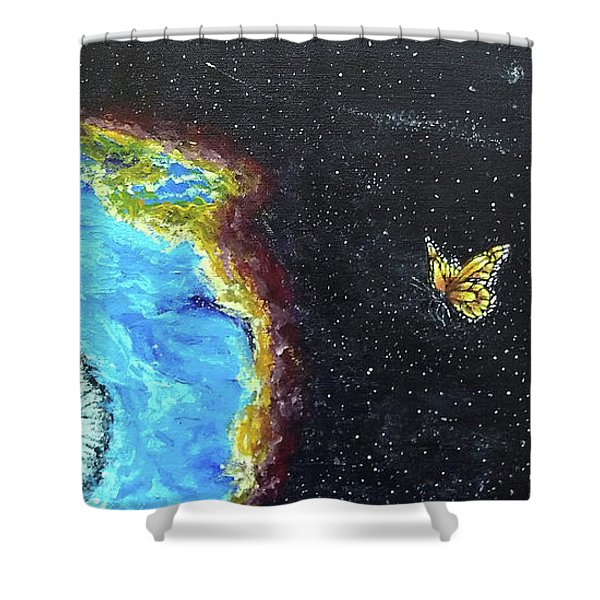Shower Curtain featuring the painting This Is Where... by Kevin Daly