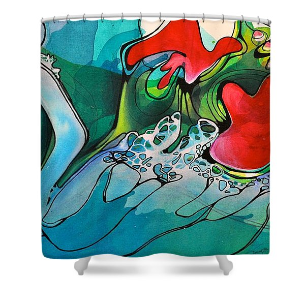 This Voided Electricity Shower Curtain