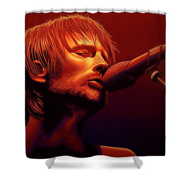 Thom Yorke Of Radiohead Shower Curtain