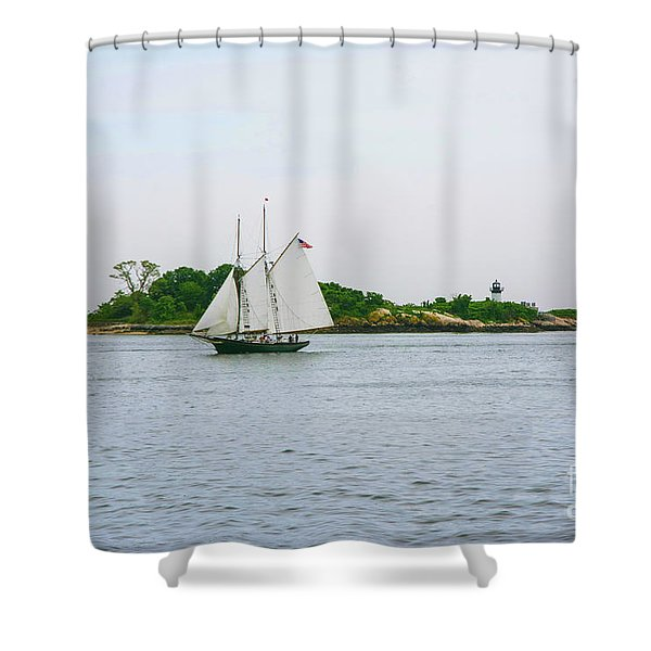 Thomas E. Lannon Cruising Shower Curtain