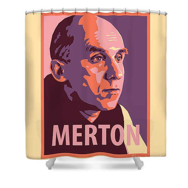 Thomas Merton - Jltme Shower Curtain