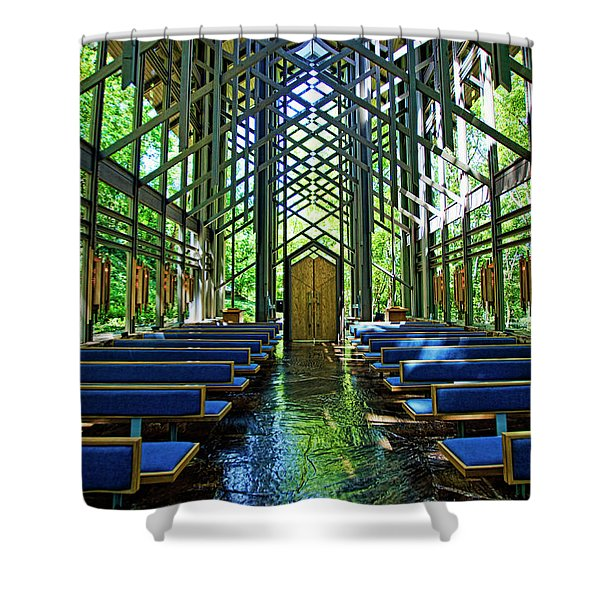 Thorncrown Chapel Serenity Shower Curtain