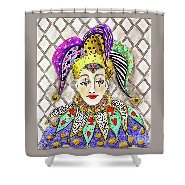 Thoughtful Jester Shower Curtain