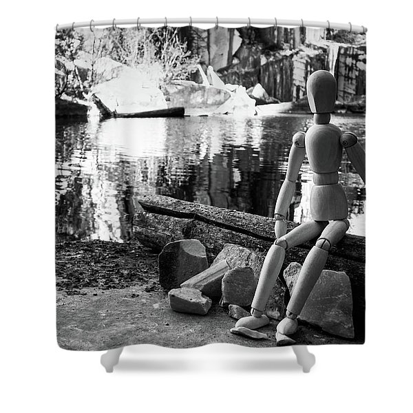Thoughts Reflected Shower Curtain